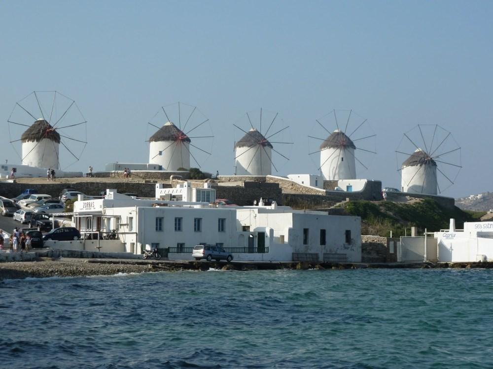 The whitewashed windmills of Mykonos