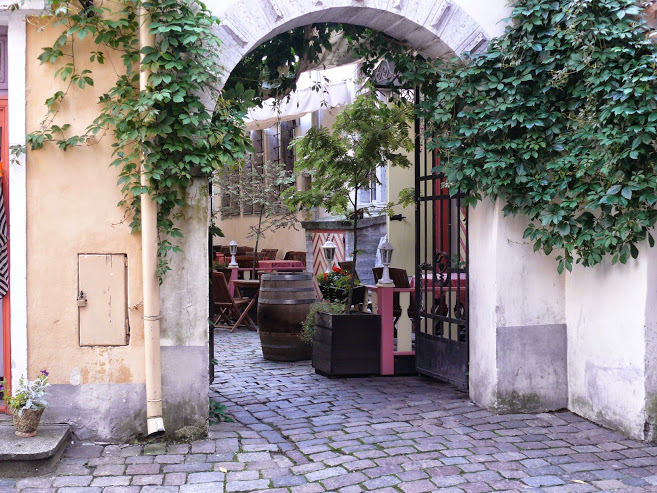 Al fresco dining awaits you in the alleyways of Tallinn