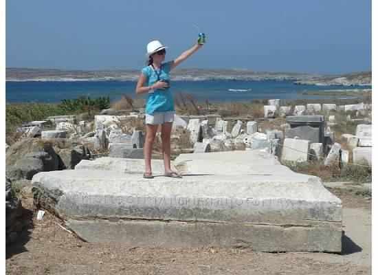 Posing on Delos
