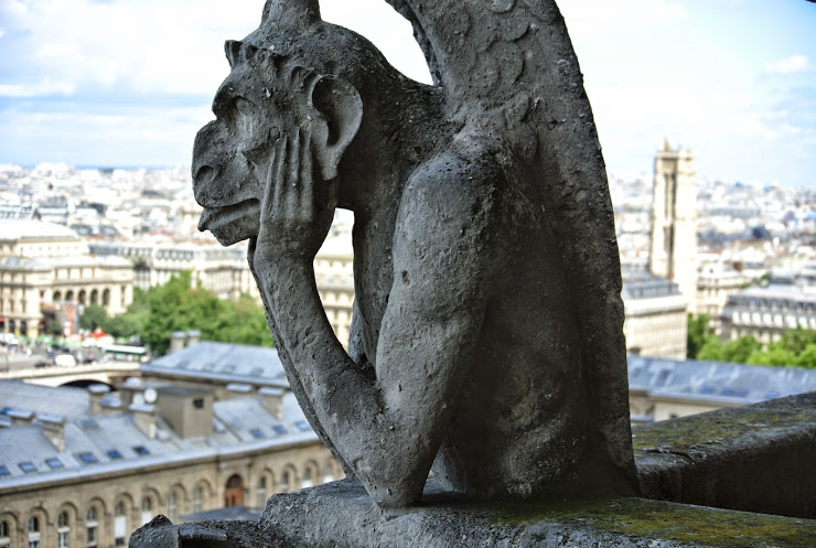 Chimera overlooking Paris