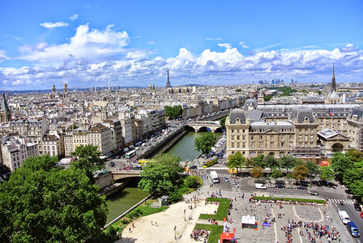The view from atop Notre Dame